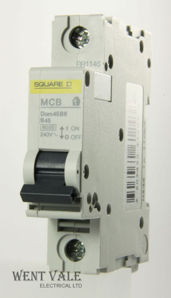 Square D Domae - DOM45B6 - 45a Type B Single Pole MCB New